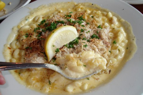 The ultimate comfort - mac and cheese (with crab!)