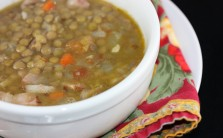 Warm up with hearty lentil soup.
