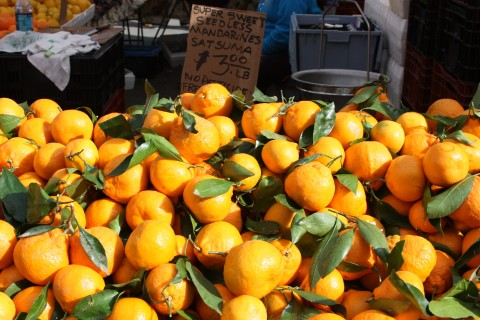 Satsumas in season.