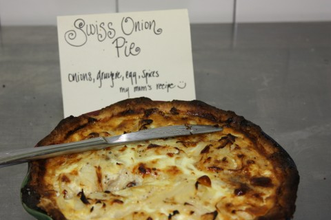 Swiss onion pie.