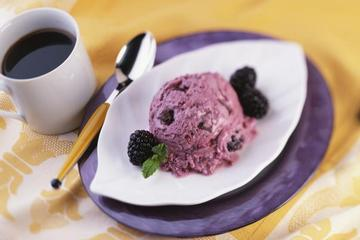 Blackberry- Chocolate Frozen Yogurt