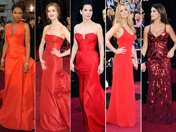 Oscars 2011 Red Dresses