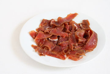 Italian-style sliced cured beef