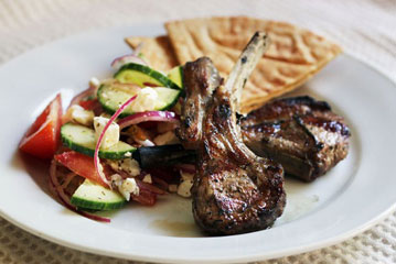 Grilled Lamb Chop, Greek Style
