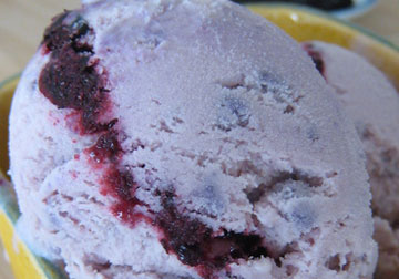 Ube Blueberry Ice Cream