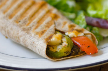 Mediterranean Grilled Vegetable Wrap (from panini happy)