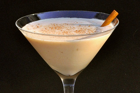 Bourbon Peach Martini