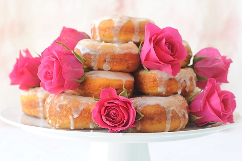 Potato Donut with Rosewater Icing