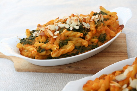 Kale and Pumpkin Pasta