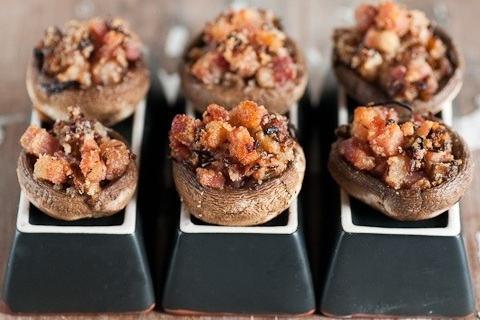 Stuffed Mushrooms with Smoked Pancetta