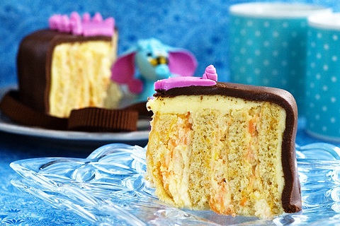 Vertical Striped Carrot Cake