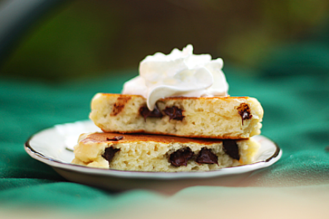 Simple Chocolate Chip Pancakes