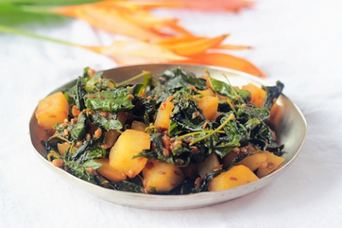 Wild Greens of Monsoon Stir-fry