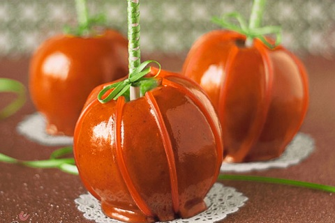Cinnamon Caramel Apple Pumpkins