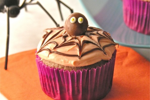 Creepy Spider Cupcakes