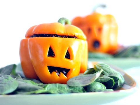 Stuffed Pepper Jack O Lanterns