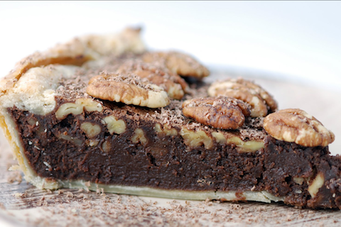 Chocolate Pecan Fudge Pie