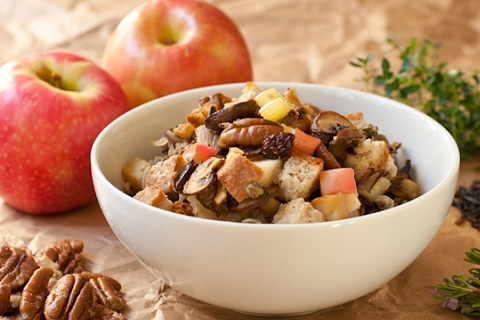 Gluten Free Wild Rice and Cornbread Stuffing