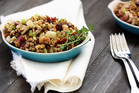 Leek and Bacon Stuffing