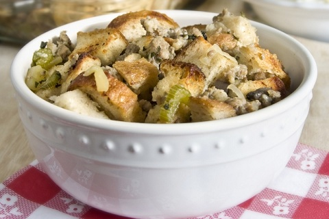 Sourdough Sage, Sausage, and Apple Stuffing