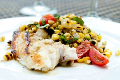 Grilled Tilapia with Sweet Corn Relish