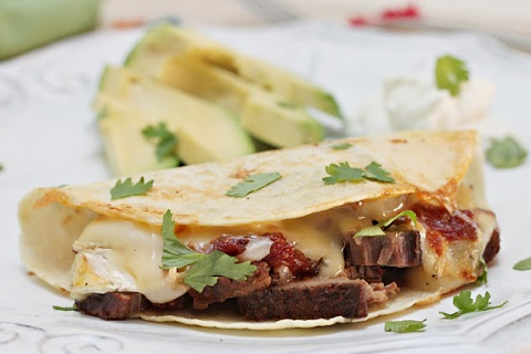 Brie and Brisket Quesadillas