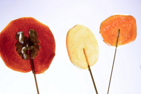 Burnt Sugar Lollipops