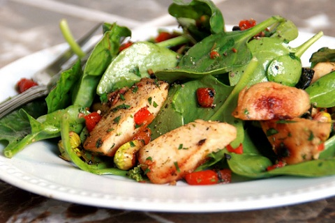 Chicken Pistachio Salad with Lime-Balsamic Dressing