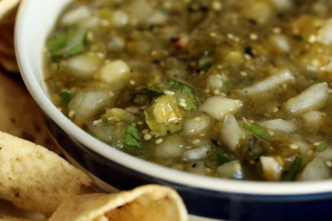 Roasted Tomatillo-Serrano Salsa