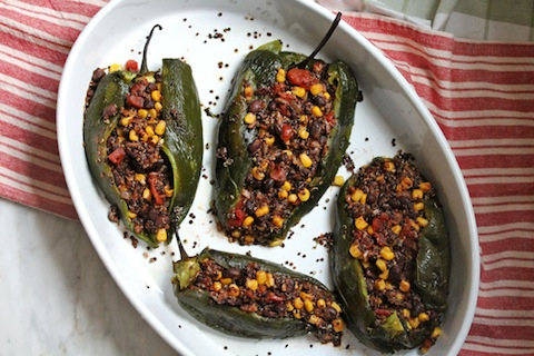 Stuffed Roasted Poblanos (from What's Cooking Good Looking)