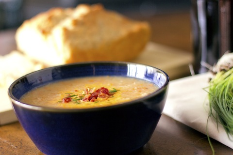 Irish Potato Soup and Honey Beer Bread