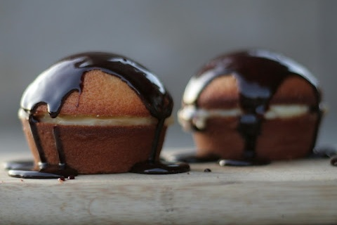 Mini Boston Cream Cupcakes