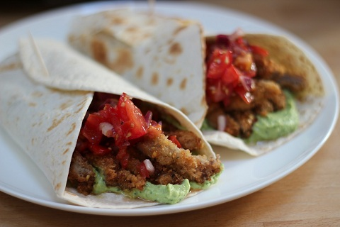 Cajun Spiced Rosé Veal Fajitas with Salsa and Avocado Sauce