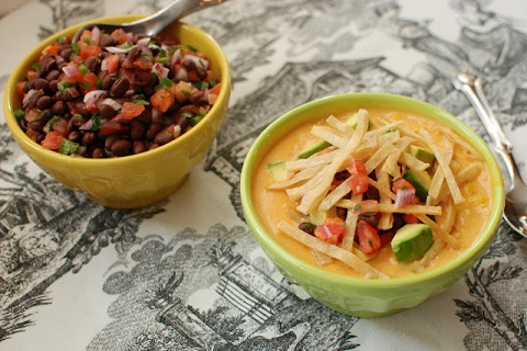 Chicken Tortilla Soup & Black Bean Salsa