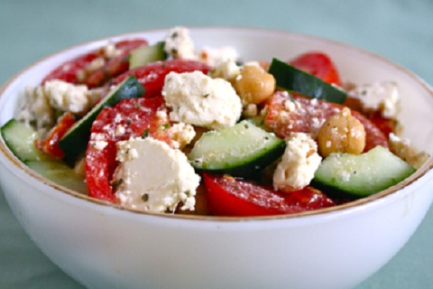 Cucumber, Chickpea, and Feta Salad