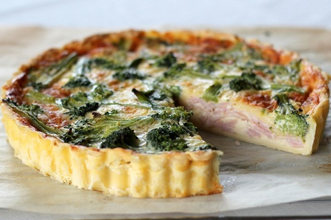 Ham, Cheese and Broccoli Quiche