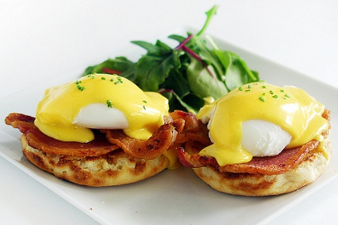 Bacon And Eggs Recipe Eggs Benedict With Bacon