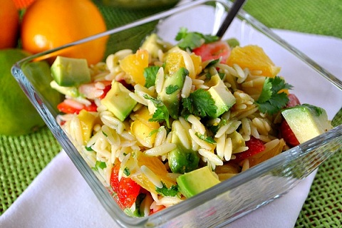 Fruity Orzo Salad with Citrus Vinaigrette