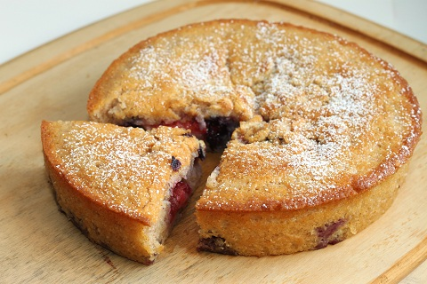 Strawberry-Blueberry and Banana-Peach Cobblers