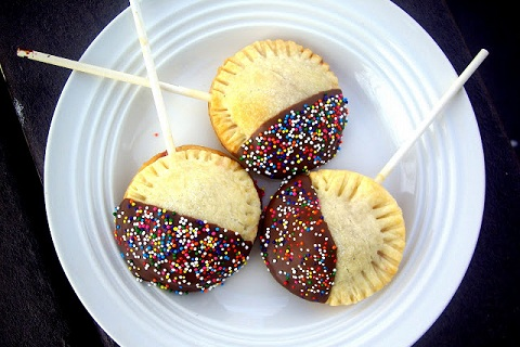 Chocolate Covered Cherry Pie Pops