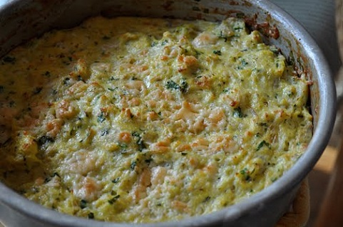 Crab and Goat Cheese Frittata