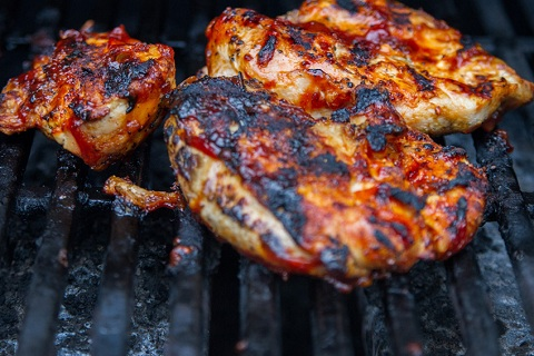Grilled Chicken with Sweet and Sassy Barbecue Sauce
