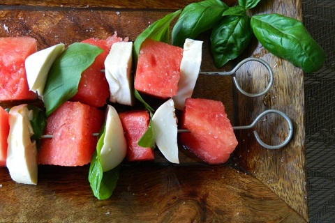 Sweet and Savory Watermelon Skewers