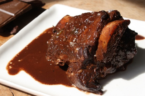 Braised Short Ribs with Chocolate and Rosemary