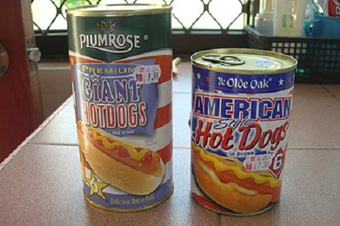 Hot Dogs in a Can