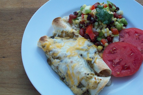 Pork Enchiladas and Green Salsa