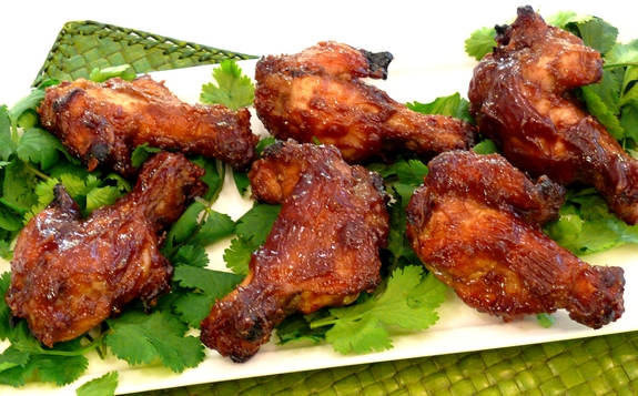 Sticky Peanut Butter & Jelly Wings