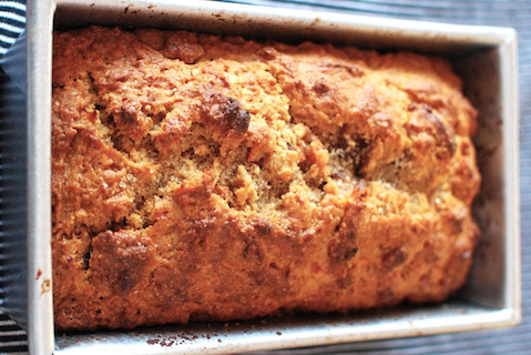 Whole Wheat Sweet Potato-Banana Bread