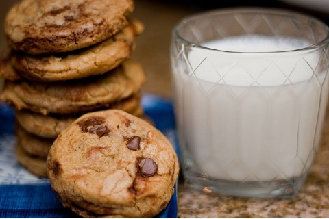 Brown Butter Rum Chocolate Swirl Cookies