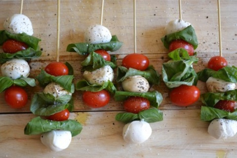 Caprese Salad Skewers Small Kitchen College
